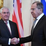 Strained relations evident in the meeting between Tillerson and Lavrov. Click to enlarge