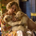 Jessica Chastain in the Zookeeper's wife. Click to enlarge