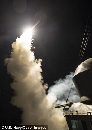 The United States Navy launched 59 cruise missiles on Syria. Click to enlarge