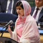 """""""Educating girls will change the world,"""" Malala,17, told the UN in July 2013. She is spearheading a lucrative for-profit school initiative."""