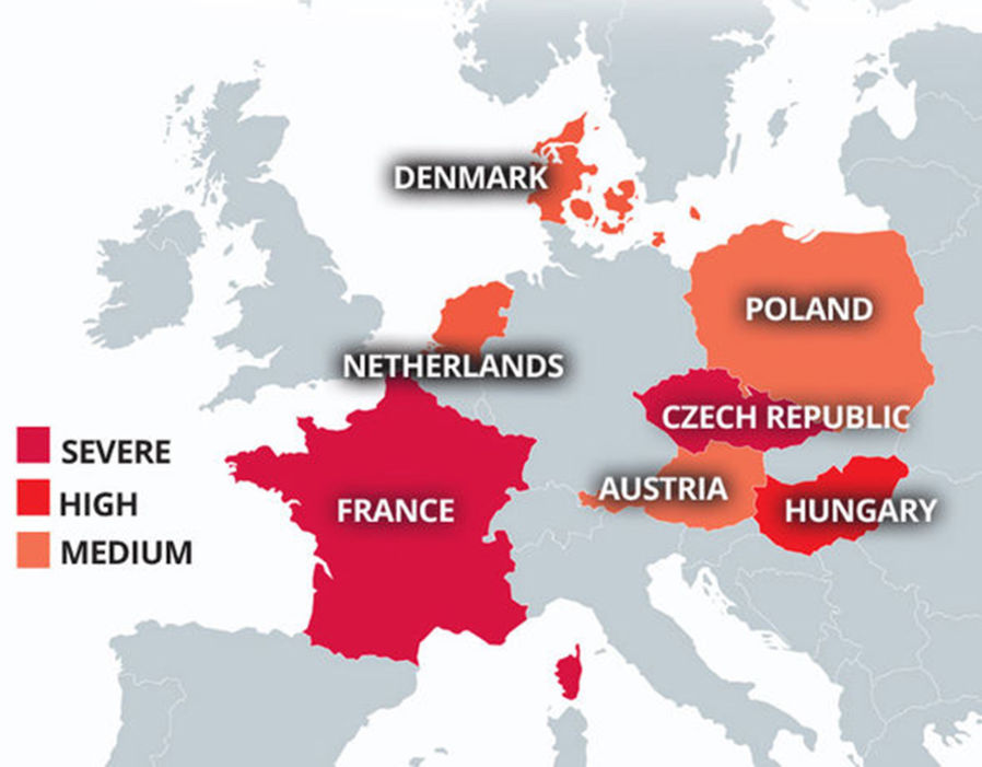The most eurosceptic countries. Click to enlarge
