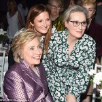 Clinton, Meryl Streep and Grace Gummer, centre. Click to enlarge