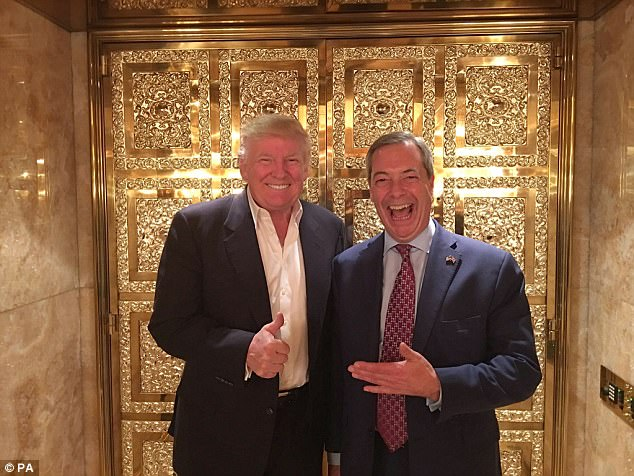 It was the picture that appeared to signal the start of a lucrative new chapter in Nigel Farage's rollercoaster career. Click to enlarge