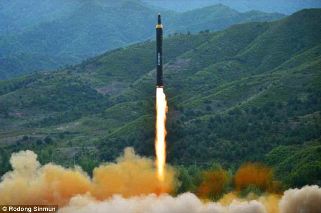 North Korea successfully test fired a new intermediate range missile. Click to enlarge