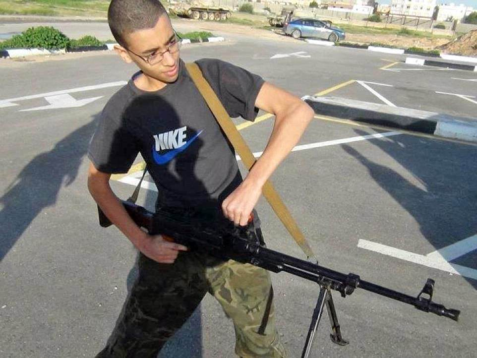 Salman Abedi's younger brother  Hashem (pictured)  had also reportedly been linked to ISIS. Click to enlarge
