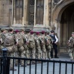 Army arrives at Westminster and Buckingham Palace