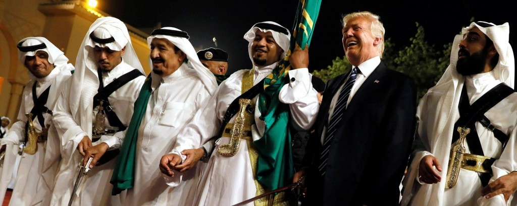 Trump with Saudi leaders. Click to enlarge