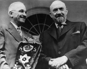 Weizmann and Hiroshima Harry Truman
