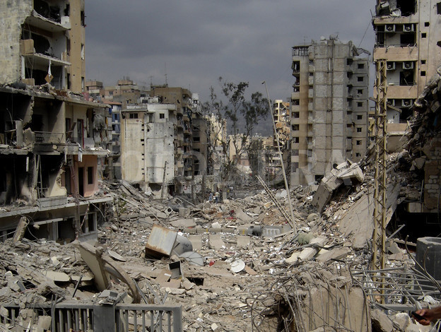 Beirut suburbs bombed by Israel. Click to enlarge