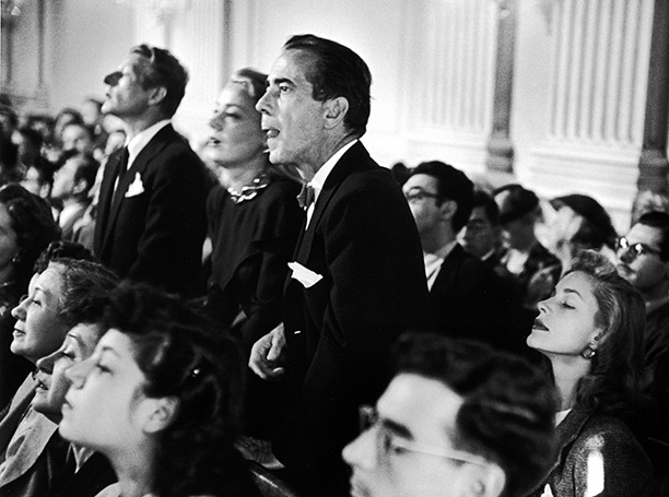 HUAC HEARING. Hollywood's biggest stars pulled in big bucks while selling out their country and their craft. Clcik to enlarge