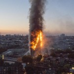 Grenfell Tower ablaze. Click to enlarge