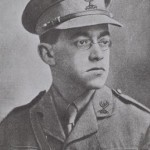 VLADIMIR JABOTINSKY WEARING UNIFORM OF THE JUDEAN BATTALION KADIMA IN THE JEWISH LEGION OF THE BRITISH ROYAL  FUSILIERS.