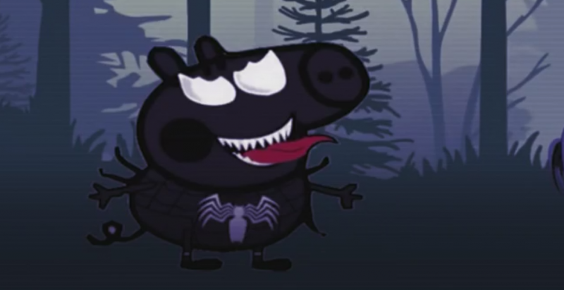 In another disturbing video. Peppa Pig turns into some kind of Spider-demon. Click to enlarge