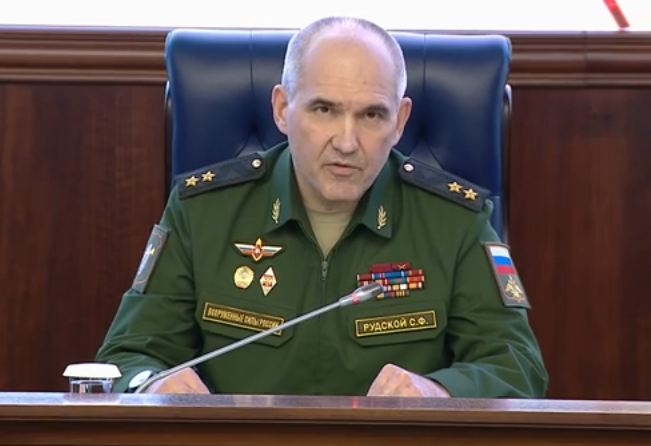 Russian military briefing