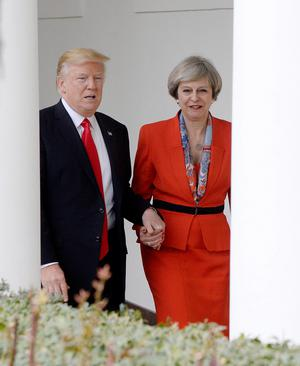 US President Trump holds bilateral meeting with British Prime Minister May