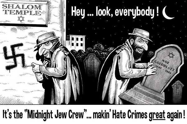 cartoon jew-hoax-crimr