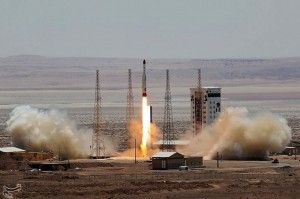 The Iranian Simorgh rocket was launched Thursday. Click to enlarge