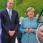 ILLUMINATI LEADERS? Now Angela Merkel makes 'that sign' with Royals Kate and Wills