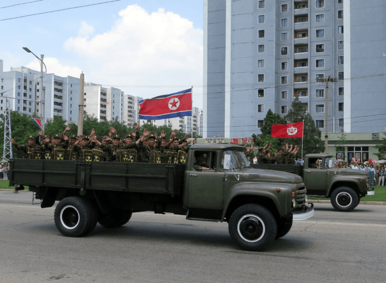 North Korean military truck