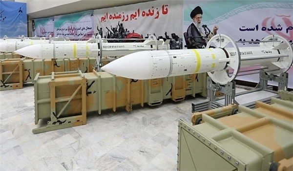 Iran's long-range surface-to-air Sayyad-3 missile. Click to enlarge