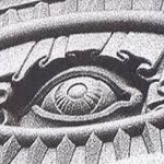An all-seeing eye at a Mormon temple.