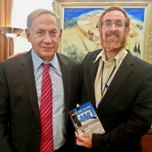 Temple movement leader Yehuda Glick, right, with Israeli Prime Minister Benjamin Netanyahu. click to enlarge