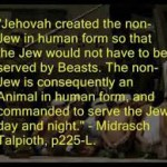Goyim are Animals- The Talmudic NWO