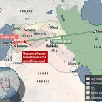 Thousands of Iranian-backed fighters are battling their way through the Middle East in a bid to secure a corridor from Tehran through Iraq, Syria and Lebanon to the Mediterranean. If secured, the route would be the biggest prize yet for Iran in its involvement in Syria's six-year-old civil war and would provide unhindered land access to its allies in Syria and Lebanon for the first time. Click to enlarge