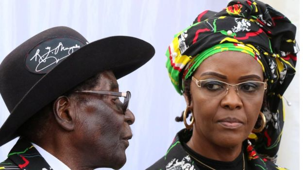 Robert and Grace Mugabe. Click to enlarge