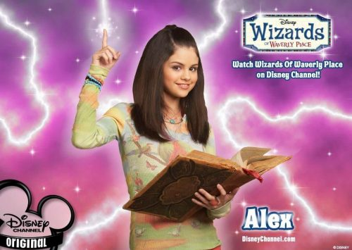 Selena Gomez as Alex, star of Wizards of Waverly Place