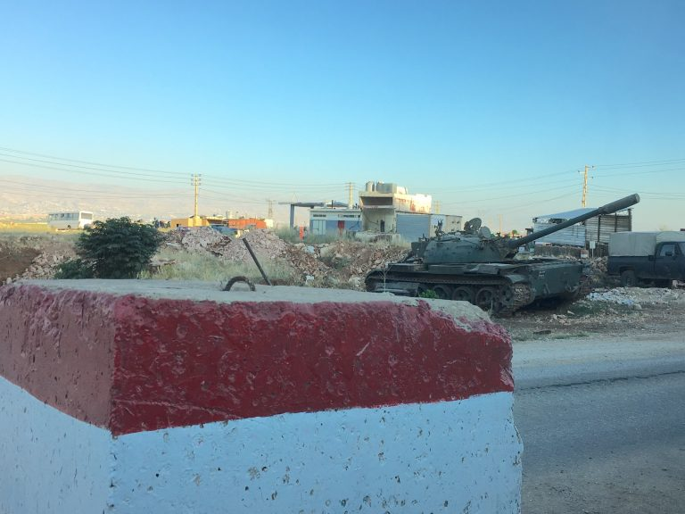 Military checkpoint near Baalbek. Click to enlarge