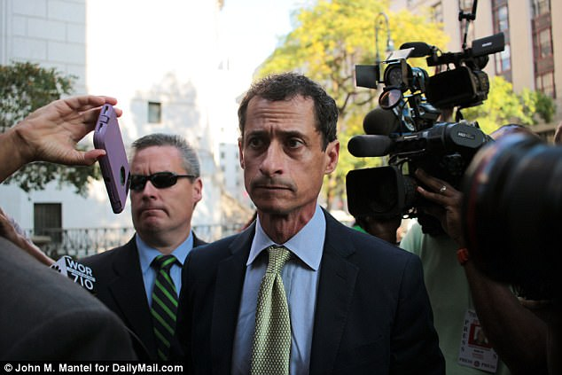 Anthony Weiner sentenced to 21 months in prison after he admitted exchanging sexually charged messages and photos with an underage girl. Click to enlarge
