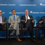 From left, David O'Sullivan, the European Union ambassador to the United States; Gérard Araud, the French ambassador; Kim Darrouch, the British ambassador; and Peter Wittig, the German ambassador; spoke at the Atlantic Council in Washington on Monday. Click to enlarge