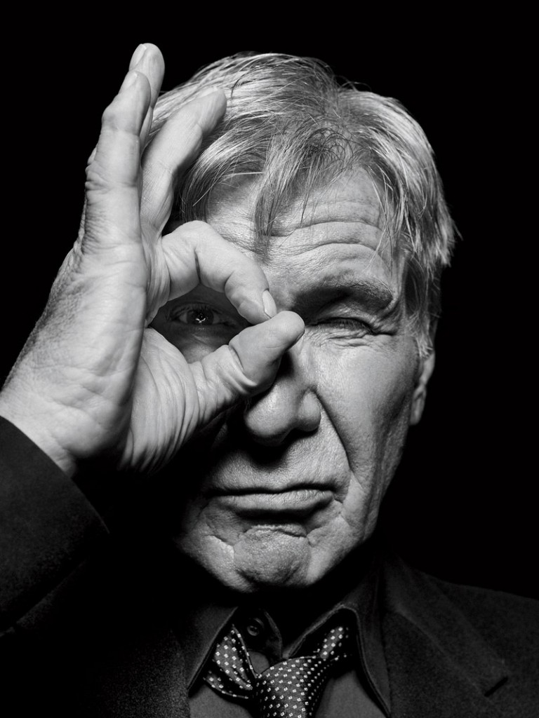 Harrison Ford is the other star of Bladerunner 2049. He was featured in the cover story of GQ magazine to promote that movie as well. Once again, the one-eye sign. In your face. Tell a friend. Click to enlarge