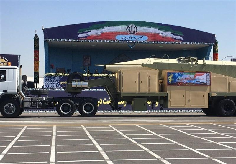 Khorramshahr missile on parade in Tehran Friday. Click to enlarge