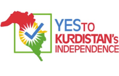 On this electoral poster, the map of « independent Kurdistan » overflows from the autonomous Iraqi region onto Iraqi and Syrian territory.