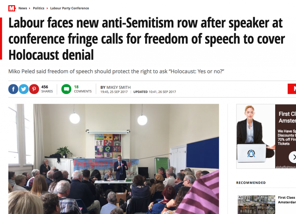 Labour faces new anti Semitism row