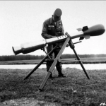 """This M28 """"mini-nuke""""—named the Davy Crockett—was first tested in 1962. It produced a yield of just 15 to 20 tons of TNT, 1000 times less powerful than the Hiroshima bomb, but also a big dose of lethal radiation. Click to enlarge"""