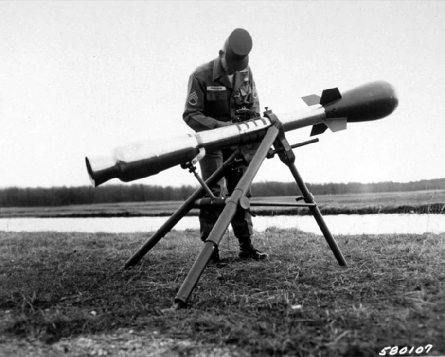 "This M28 ""mini-nuke""—named the Davy Crockett—was first tested in 1962. It produced a yield of just 15 to 20 tons of TNT, 1000 times less powerful than the Hiroshima bomb, but also a big dose of lethal radiation. Click to enlarge"