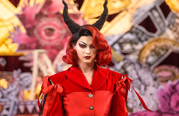 Satanic fashion show