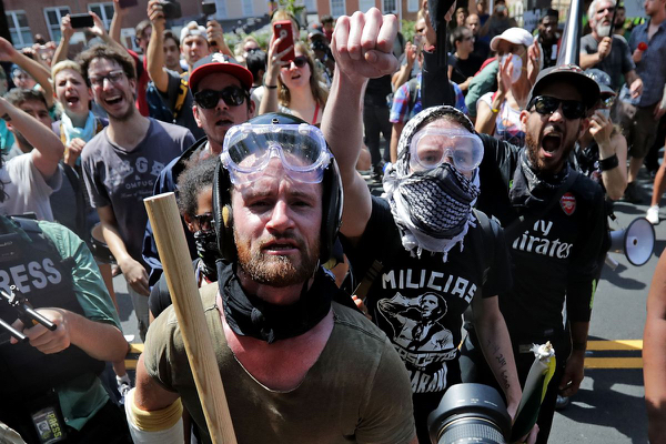 "Reminds me of Zombie TV show ""Walking Dead"" --""Even as establishment-guided mobs intimidate and commit violence, their victims are blamed for violence and hate crimes."" Click to enlarge"