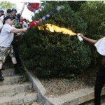 Improvised flamethrower used in Charlottesville. Click to enlarge