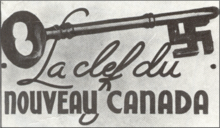 Postcard used by Arcand movement