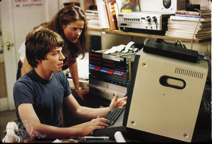 Matthew Broderick & Ally Sheedy in WarGames, 1983. Click to enlarge