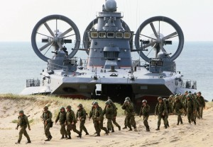 Russian military hovercraft. Click to enlarge