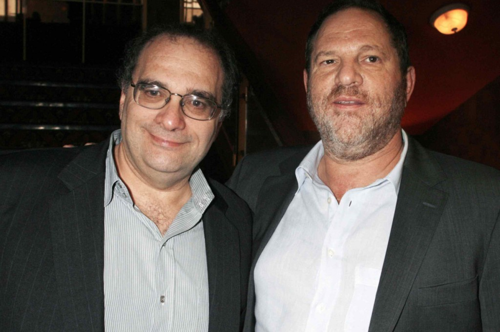 Harvey (right) and Bob Weinstein. Click to enlarge