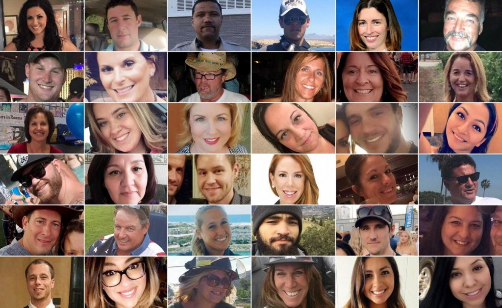 Some of the victims of the Las Vegas shooting. click to enlarge