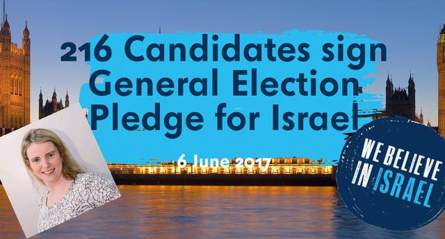 general election pledge for israel