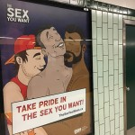 """Government poster in the Toronto subway promoting the """"gay lifestyle"""" - sexual perversion. Click to enlarge"""