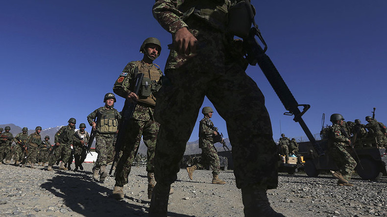 Afghan National Army soldiers. click to enlarge